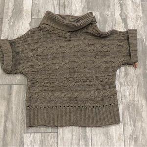 Nine West Short Sleeve Cowl Neck Sweater